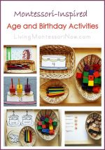 Montessori Monday – Montessori-Inspired Age and Birthday Activities