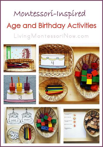 Montessori Monday – Montessori-Inspired Age and Birthday Activities