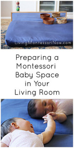 Preparing a Montessori Baby Space in Your Living Room