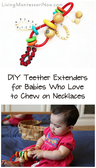 DIY Teether Extenders for Babies Who Love to Chew on Necklaces