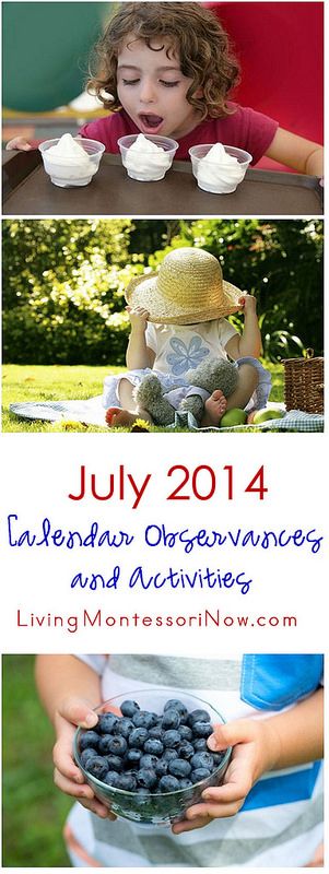 July 2014 Calendar Observances and Activities