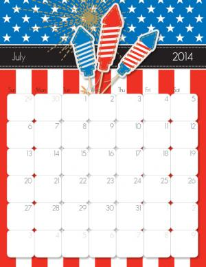 July 2014 Calendar from iMom