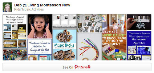 Kids' Music Activities Pinterest Board