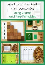 Montessori Monday – Math Activities Using Cubes and Free Printables