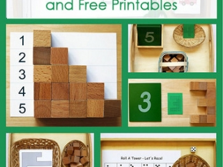 Montessori-Inspired Math Activities Using Cubes and Free Printables