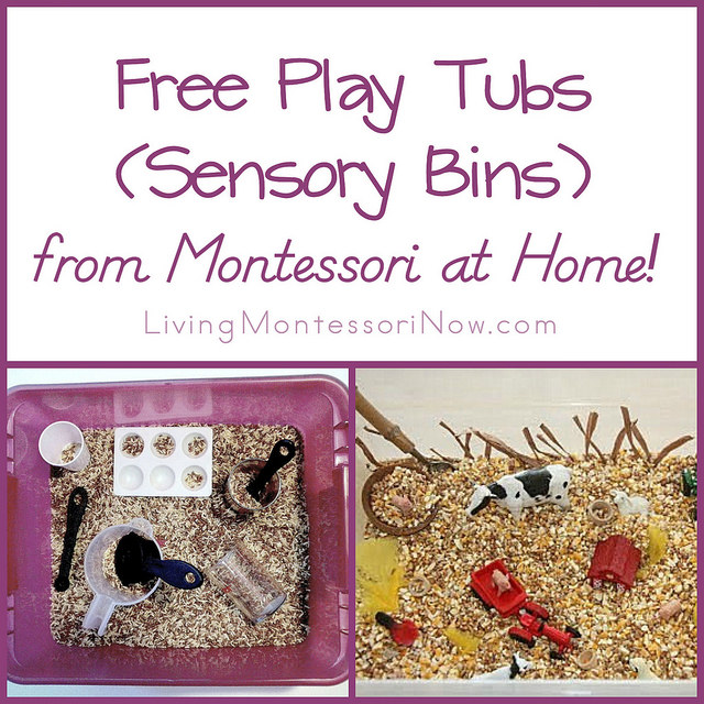 Free Play Tubs (Sensory Bins) from Montessori at Home!