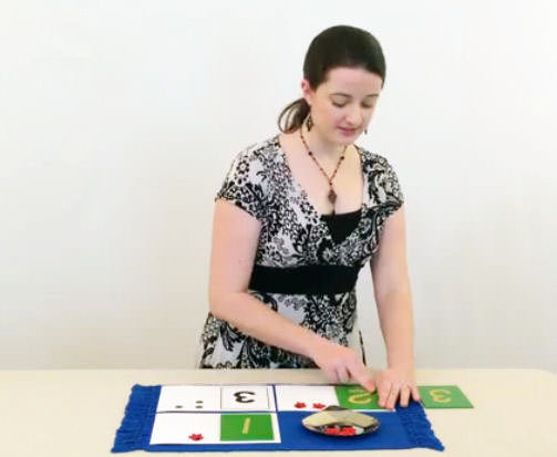 Screenshot of Teresa Introducing Quantity and Symbol in the Online Video Instruction