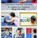 Montessori Monday – Activities for Babies and Toddlers Using Yarn Balls