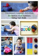 Activities for Babies and Toddlers Using Yarn Balls