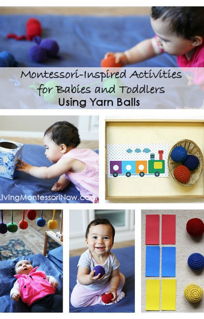 Montessori-Inspired Activities for Babies and Toddlers Using Yarn Balls