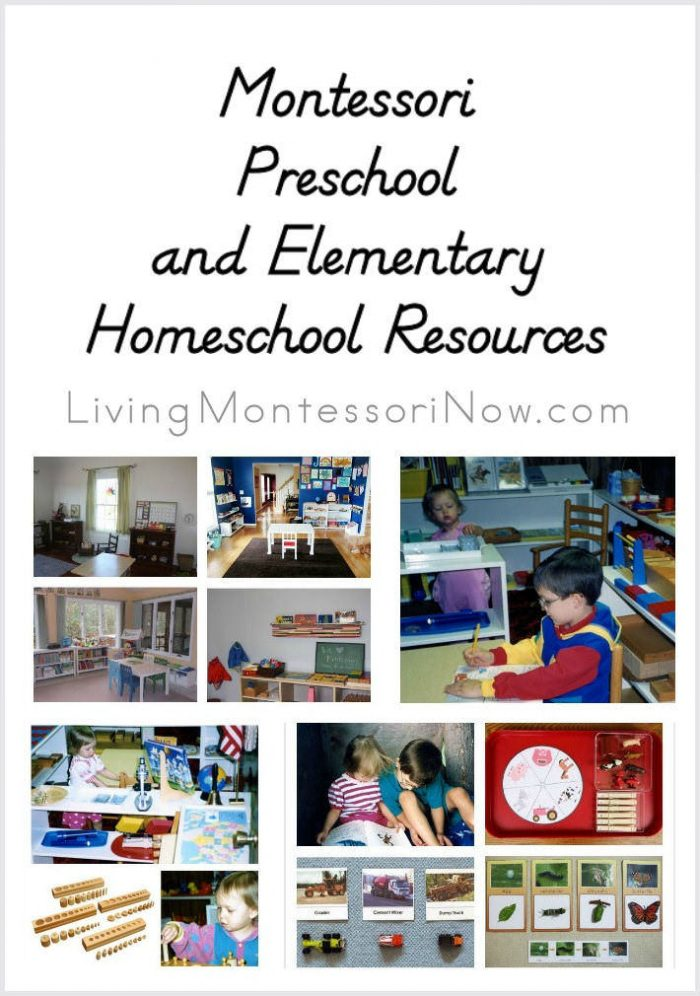 Montessori Preschool and Elementary Homeschool Resources