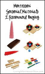 Montessori Sensorial Materials I Recommend Buying