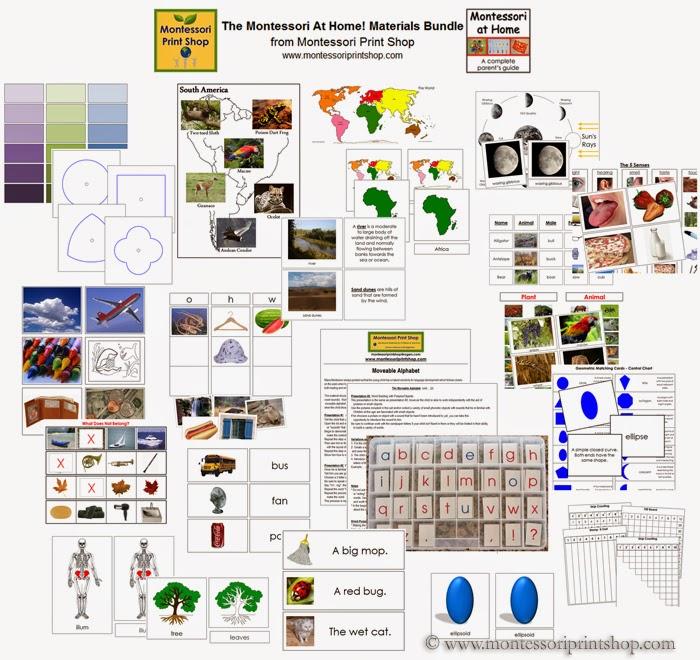 Montessori at Home! Materials Bundle