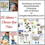 Montessori at Home eBook/Materials Giveaway with 25 Winners!