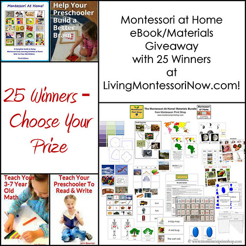 Montessori at Home eBook-Materials Giveaway with 25 Winners