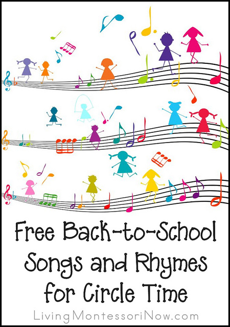 Free Back-to-School Songs and Rhymes for Circle Time {Including Days of the Week, Months, and Seasons}