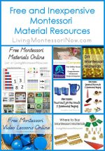 Montessori Monday – Free and Inexpensive Montessori Material Resources