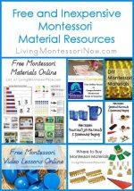 Montessori Monday – Free and Inexpensive Montessori Material Resources