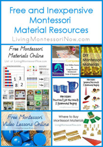 Free and Inexpensive Montessori Material Resources