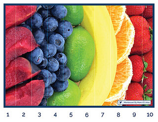Fruit Puzzle from Montessori By Mom