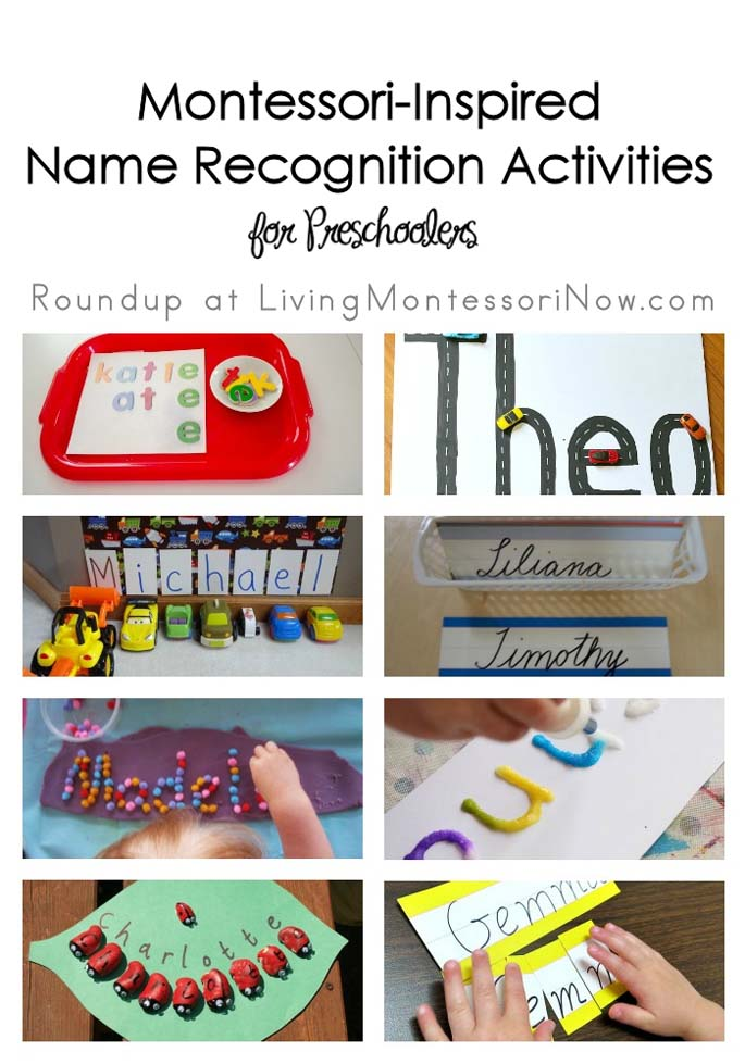 Montessori Monday – Montessori-Inspired Name Recognition Activities for Preschoolers