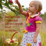 September 2014 Calendar Observances and Activities