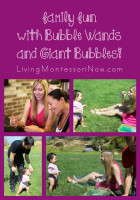 Family Fun with Bubble Wands and Giant Bubbles