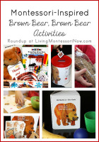 Montessori-Inspired Brown Bear, Brown Bear Activities