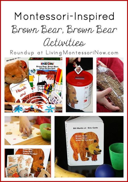 Montessori Monday – Montessori-Inspired Brown Bear, Brown Bear Activities