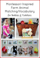 Montessori-Inspired Farm Animal Matching-Vocabulary for Babies and Toddlers