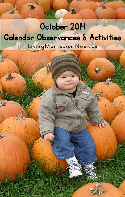 October 2014 Calendar Observances and Activities