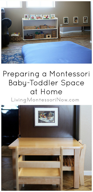 Preparing a Montessori Baby-Toddler Space at Home