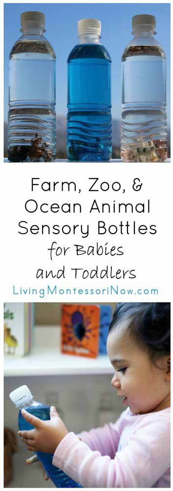 Farm, Zoo, & Ocean Animal Sensory Bottles for Babies and Toddlers