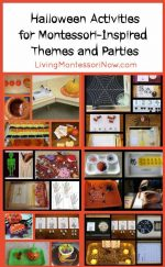 Montessori Monday – Halloween Activities for Montessori-Inspired Themes and Parties