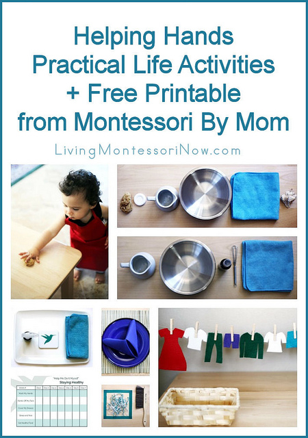 Helping Hands Practical Life Activities + Free Printable from Montessori By Mom