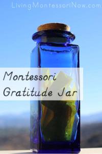 Montessori Gratitude Jar