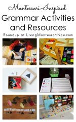 Montessori Monday – Montessori-Inspired Grammar Activities and Resources