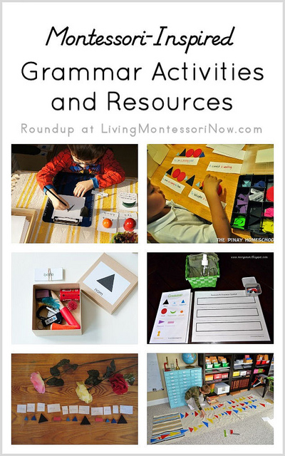 Montessori Monday – Montessori-Inspired Grammar Activities and Resources