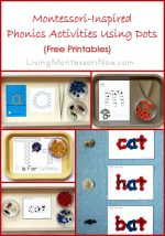 Montessori Monday – Montessori-Inspired Phonics Activities Using Dots {Free Printables}