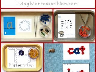 Montessori-Inspired Phonics Activities Using Dots {Free Printables}