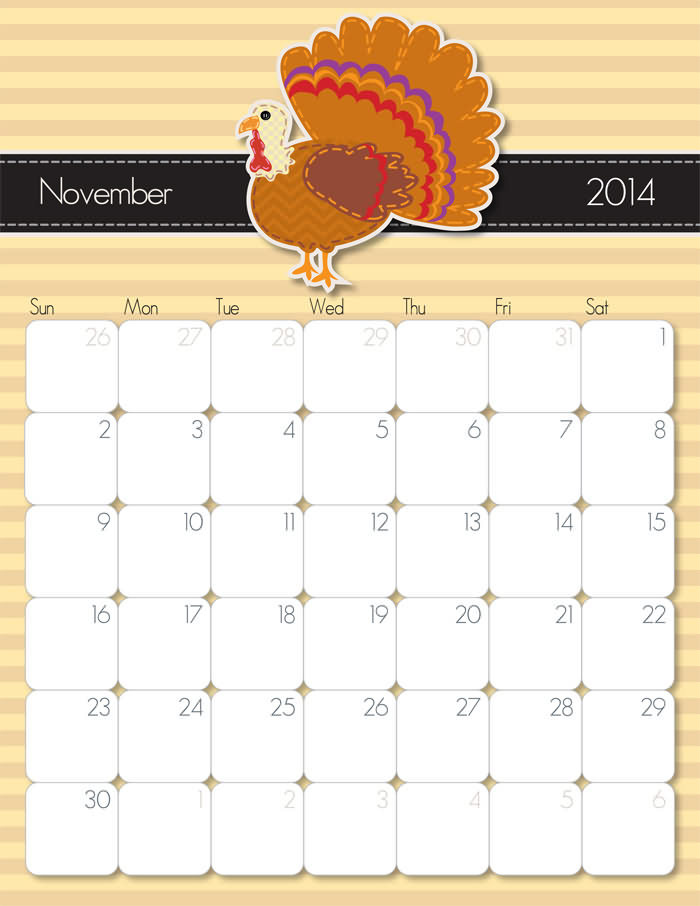 September 2014 Calendar from iMom