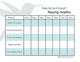Staying Healthy Free Printable from Montessori By Mom