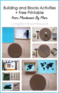 Building and Blocks + Free Printable from Montessori By Mom