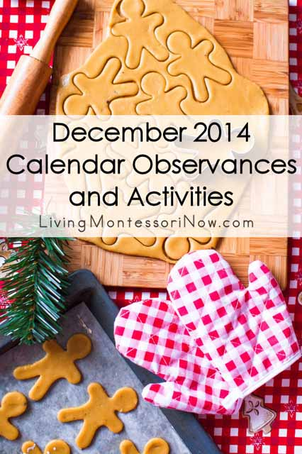 December 2014 Calendar Observances and Activities