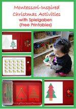 Montessori Monday – Montessori-Inspired Christmas Activities with Spielgaben {Free Printables}