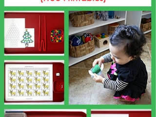 Montessori-Inspired Christmas Activities with Spielgaben {Free Printables}