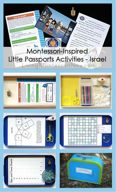 Montessori-Inspired Little Passports Activities - Israel