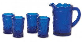 Montessori Services Blue Glass Pouring Set