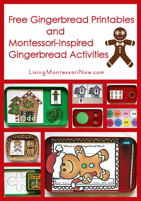 Montessori Monday – Free Gingerbread Printables and Montessori-Inspired Gingerbread Activities