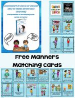 Montessori Monday – Free Grace and Courtesy Printable {Manners Matching Cards}